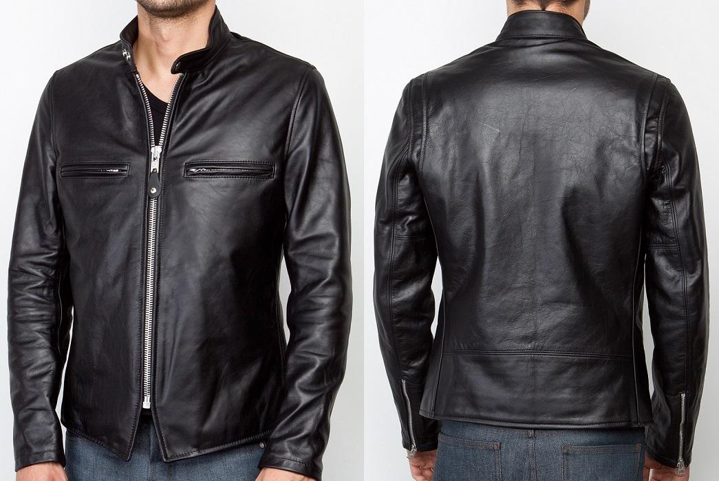 Schott NYC: Cafe Racer Jacket in Black