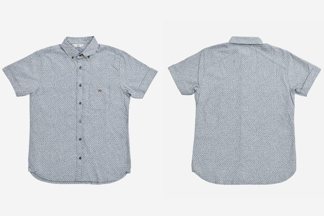 3sixteen-Short-Sleeve-Workshirt-Floral-Discharge-Front-Back