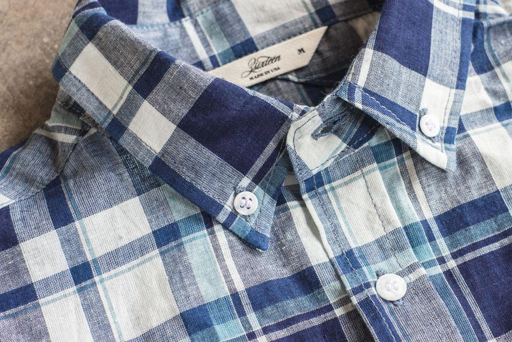 3sixteen-Short-Sleeve-Workshirt-Indigo-White-Madras-Collar