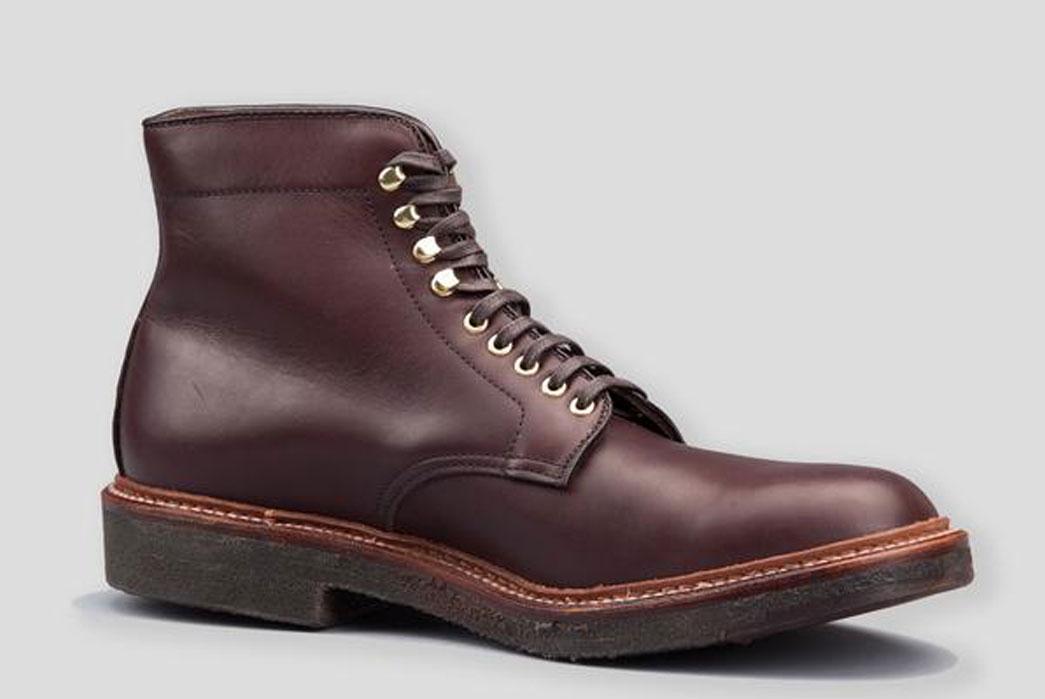 Alden-x-Standard-&-Strange-4513H-Brown-Pegasus-Calfskin-Plain-Toe-Boot-Front