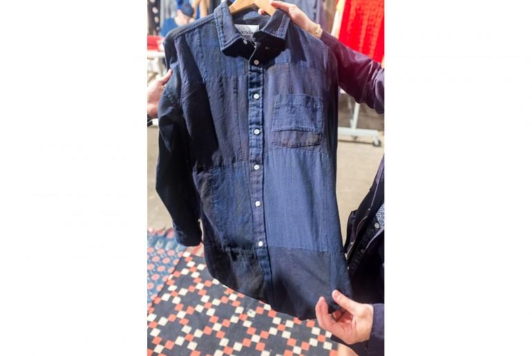 Corridor-NYC-indigo-patchwork-button-up-shirt-man-ss17