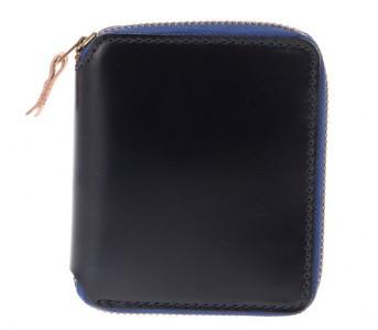 Denime-Cordovan-Navy-Blue-Wallets-Short-Front