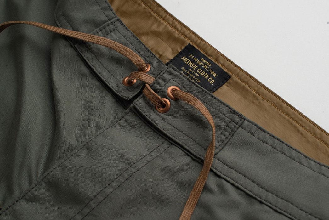 Freenote-Cloth-Deadstock-Standard-Issue-Boardshort-Shoelace
