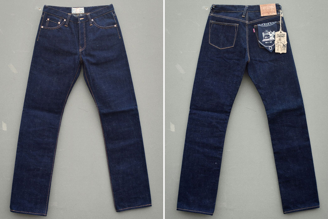 "Oldblue. Co 8.25"" 25Oz. Fifth Anniversary Edition Raw Denim Jeans"