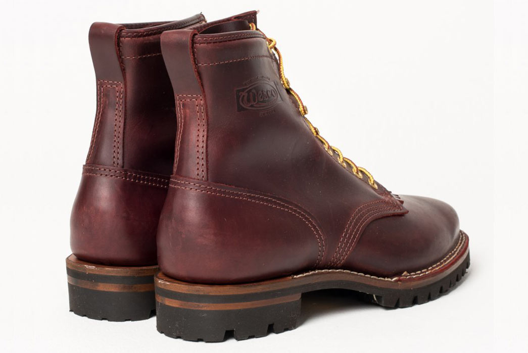 Iron-Heart-x-Wesco-Burgundy-Smooth-Out-Walking-Boot-Both-Back
