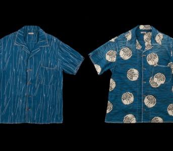 Kapital-Aloha-Lawn-Hands-Rain-Wabash-Indigo-Shirts-Front-Back