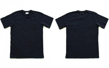 Loop-&-Weft-LRC1021-Loopwheel-Overlap-Collar-Pocket-Tees-Black-Front-Back