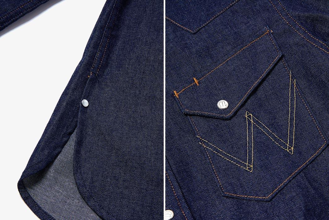 Nonnative-Cowboy-Shirts-27mw-Cotton-8oz-Denim-Nw-By-Wrangler-Closeup