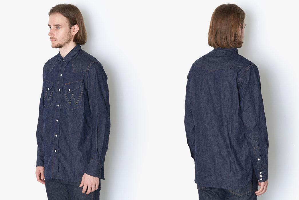 Nonnative-Cowboy-Shirts-27mw-Cotton-8oz-Denim-Nw-By-Wrangler-Front-Back