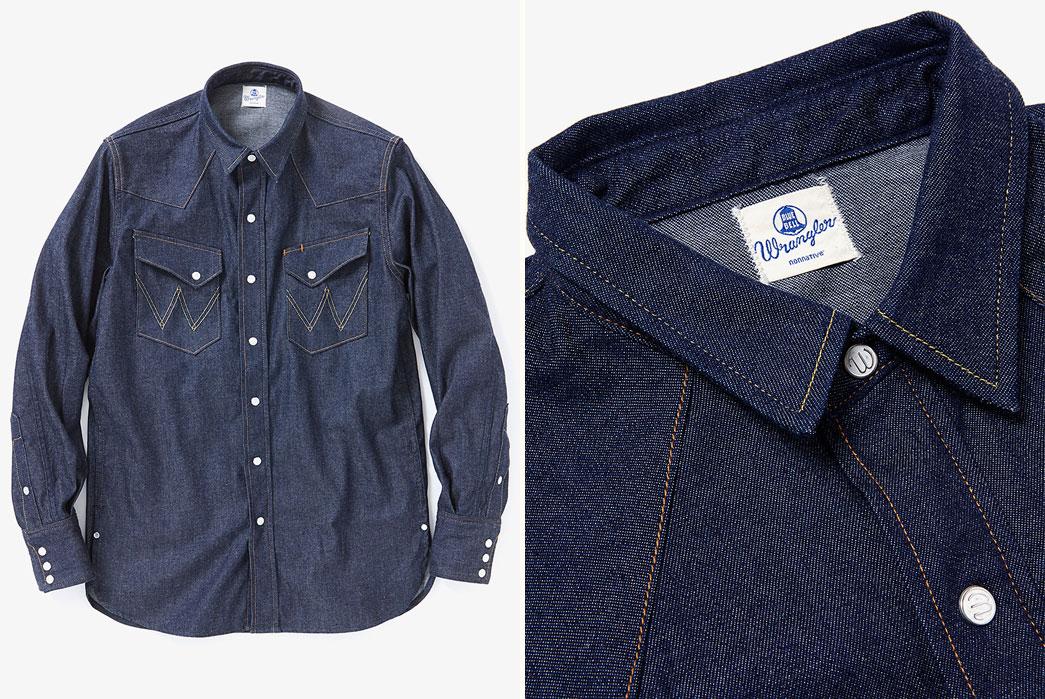 Nonnative-Cowboy-Shirts-27mw-Cotton-8oz-Denim-Nw-By-Wrangler-Fronts