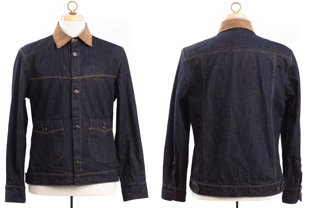 Shockoe-Atelier-Candiani-Mills-12.5oz-Raw-Indigo-Tinted-Weft-Denim-Blouson-Front-Back