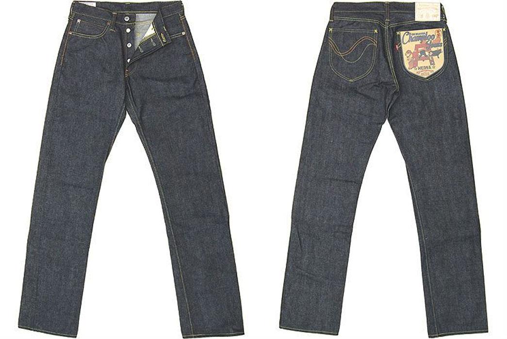 Studio-D'Artisan-OKI-815-Heiwa-Champloo-70th-Anniversary-Jeans-Front-Back