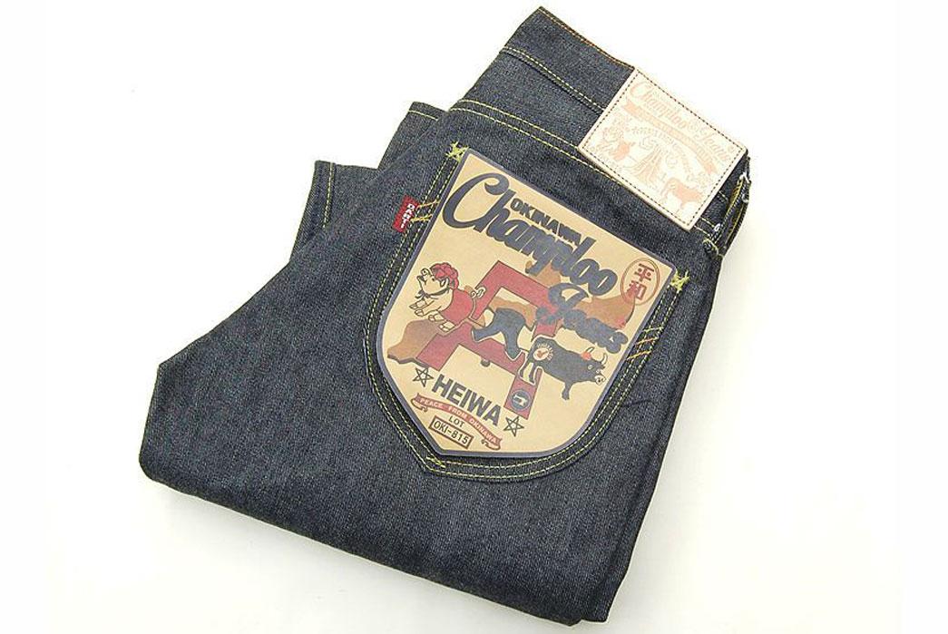 Studio-D'Artisan-OKI-815-Heiwa-Champloo-70th-Anniversary-Jeans-Patch-Back-Pocket