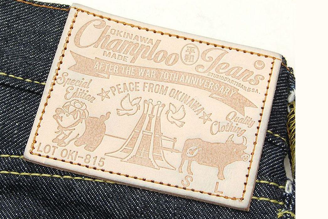 Studio-D'Artisan-OKI-815-Heiwa-Champloo-70th-Anniversary-Jeans-Patch