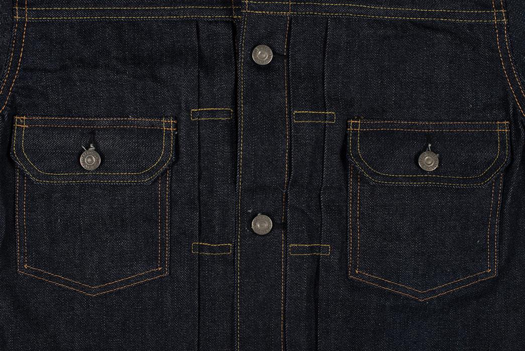 Sugar-Cane-1953-Type-II-Unsanforized-Raw-Denim-Jacket-Modified-Length-Cloth