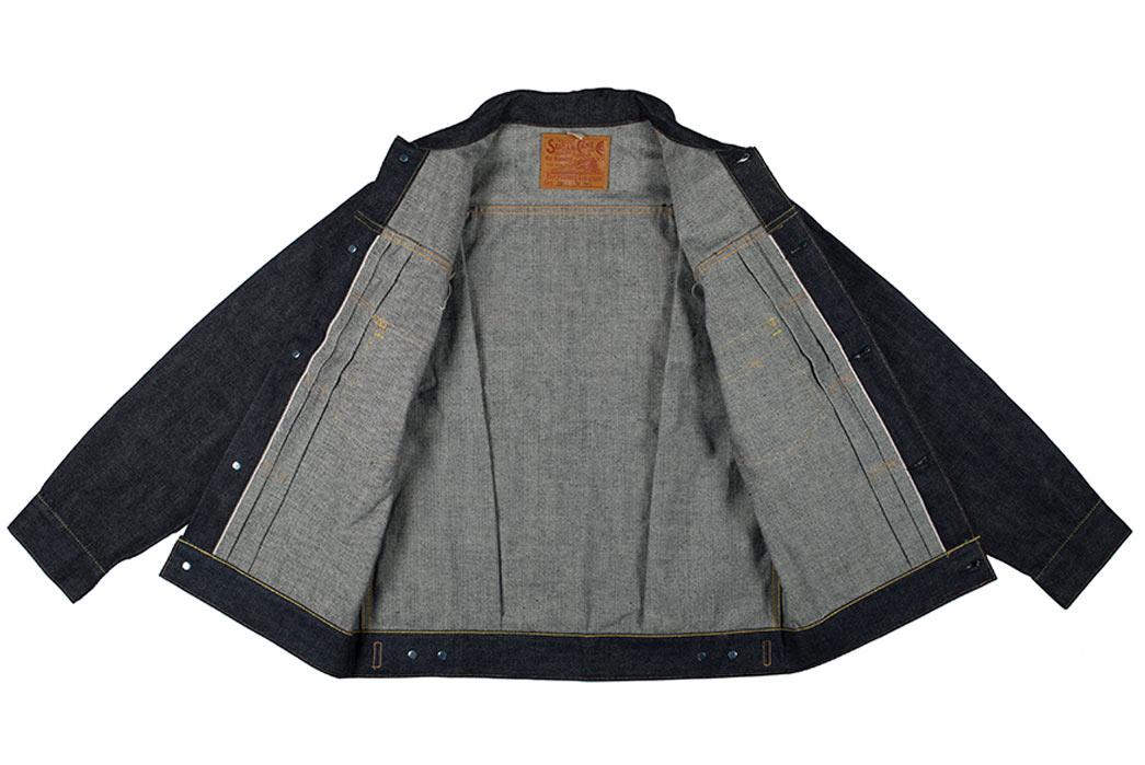 Sugar-Cane-1953-Type-II-Unsanforized-Raw-Denim-Jacket-Modified-Length-Front-Open