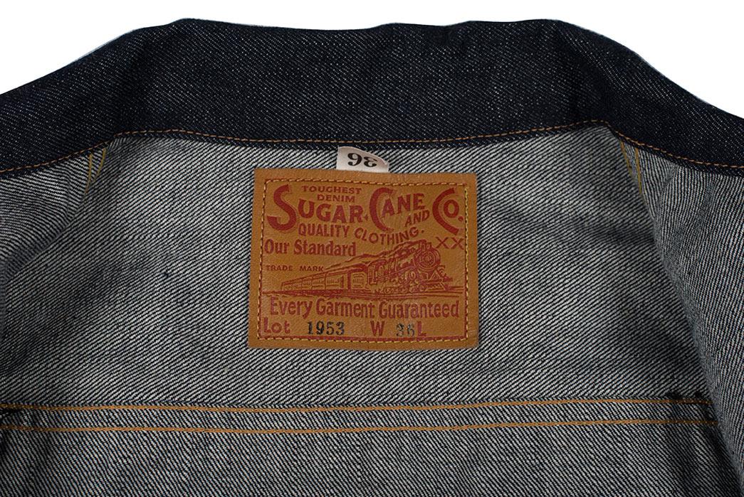 Sugar-Cane-1953-Type-II-Unsanforized-Raw-Denim-Jacket-Modified-Length-Patch