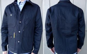 Tellason-13.5oz-Japanese-Black-Selvedge-Denim-Coverall-Jacket-Front-Back