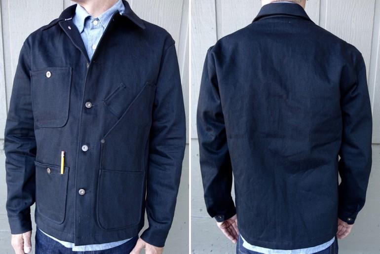 Tellason-13.5oz-Japanese-Black-Selvedge-Denim-Coverall-Jacket-Front-Back</a>
