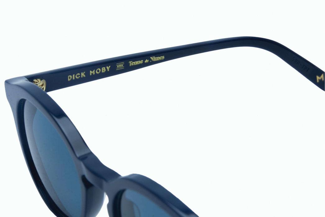 Tenue-de-Nîmes-x-Dick-Moby-Indigo-Inspired-Recycled-Plastic-Sunglasses-Nimes-CLose-Up