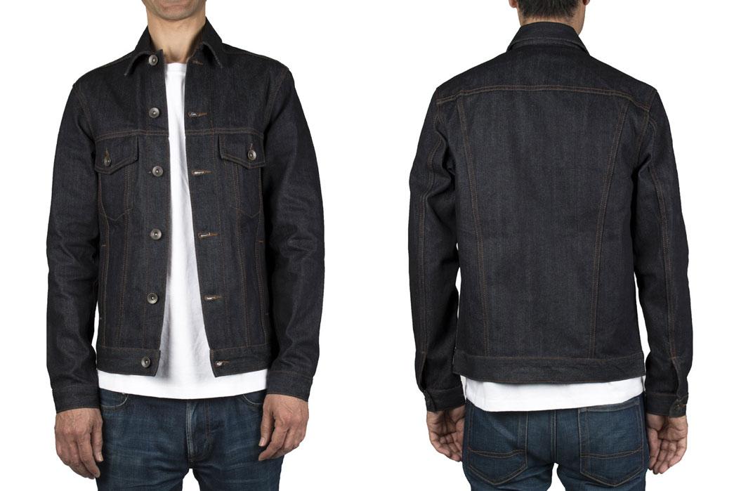The-Unbranded-Brand-UB901-14.5oz-Indigo-Selvedge-Denim-Jacket-Model-Front-Back