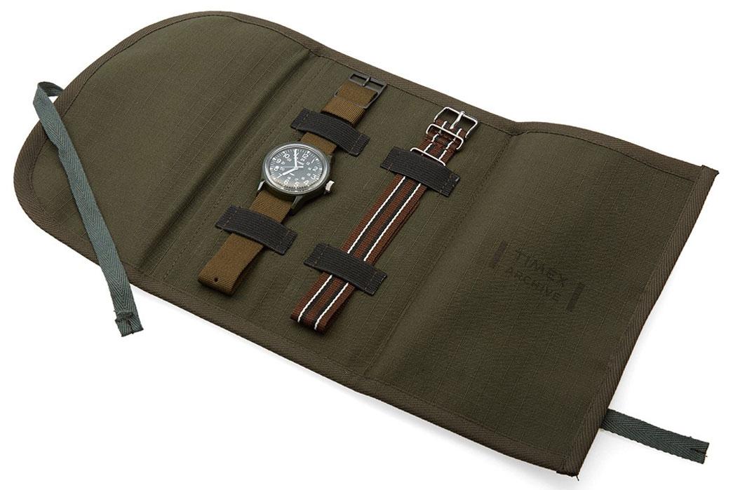 Timex-30th-Anniversary-Reissue-Mk-1-Ltd-Edition-Camper-Watch-Bag-Open