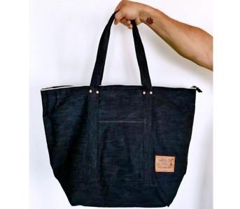 White-Oak-Selvedge-Denim-Tote-Bag-and-Wallet-Front