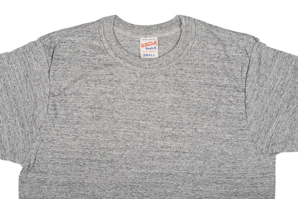 Whitesville-Made-in-Japan-Tubular-Knit-T-Shirt-Gray-Closeup