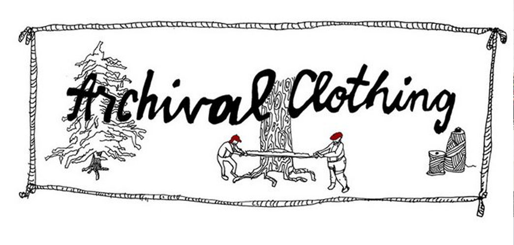 Caption: original 2006 Archival Clothing blog header by illustrator, Ryan Blomberg.