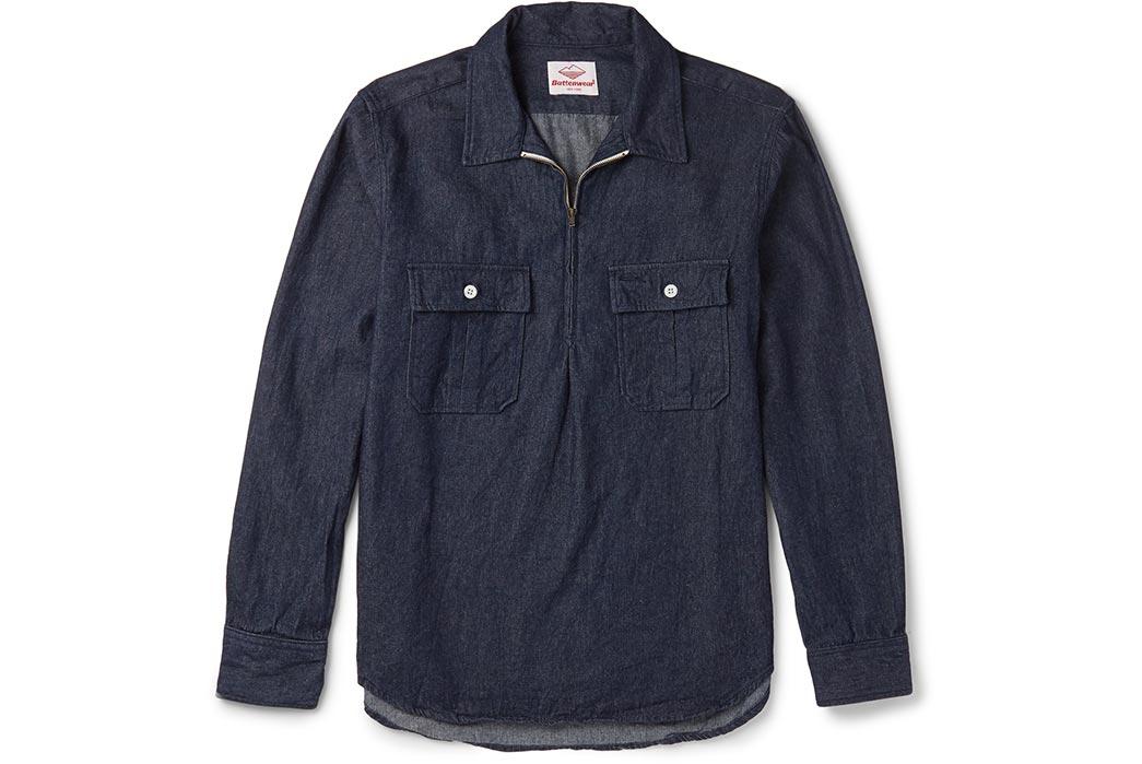 Battenwear-Made-in-Canada-Garage-Denim-Zip-Up-Shirt-Front