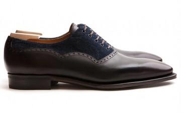 Corthay-Wilfrid-Balmoral-Dress-Shoes-in-Dark-Brown-Calfskin-and-Denim-Overside