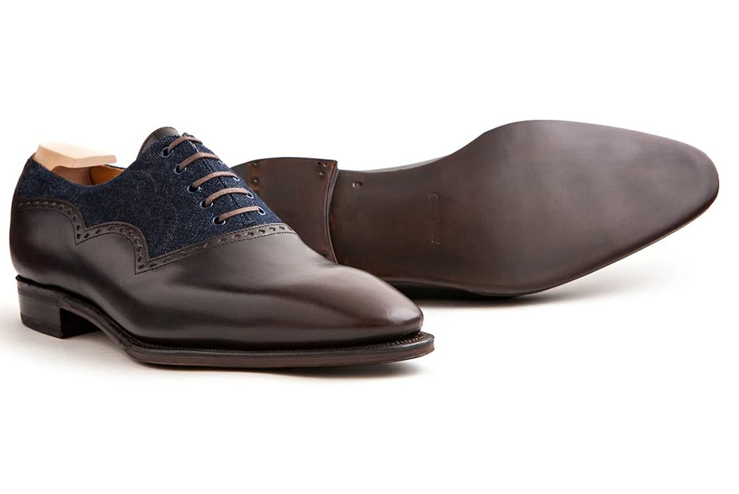 Corthay-Wilfrid-Balmoral-Dress-Shoes-in-Dark-Brown-Calfskin-and-Denim-Sole