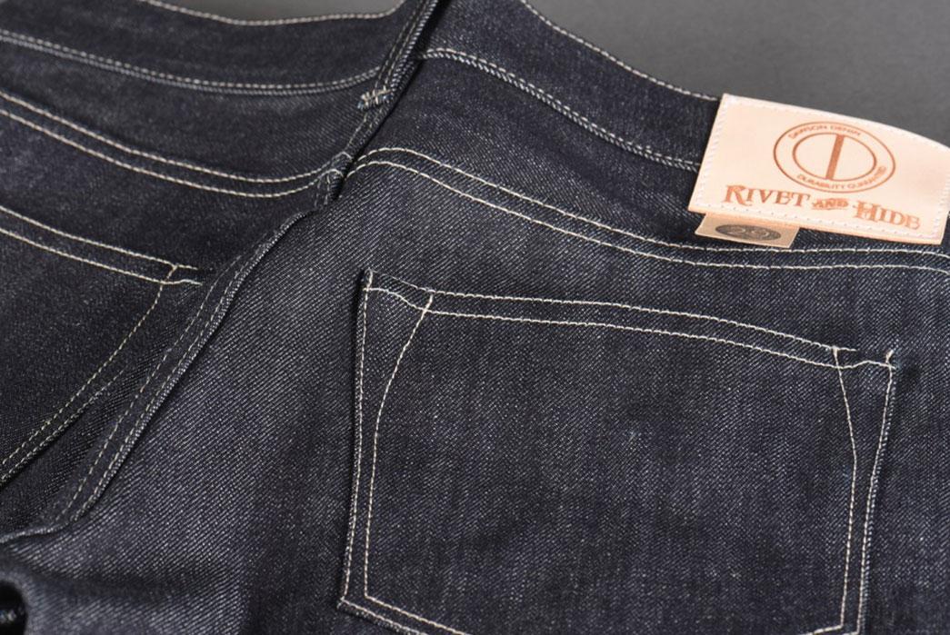 Dawson-Denim-X-Rivet-&-Hide-14.25oz-Japanese-Selvedge-Denim-Slim-Tapered-Jean-Back-Pocket