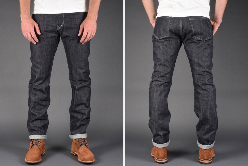 Dawson-Denim-X-Rivet-&-Hide-14.25oz-Japanese-Selvedge-Denim-Slim-Tapered-Jean-Front-Back