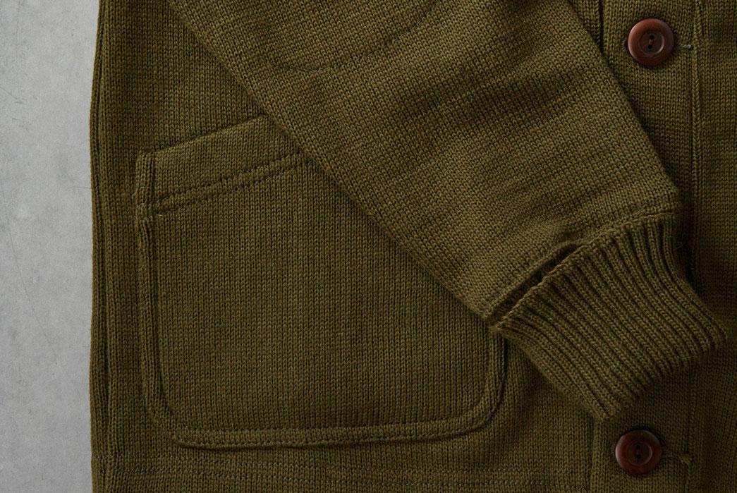 Dehen-1920-x-Division-Road-Inc-Worsted-Wool-Shawl-Collar-Cardigan-Loden-Sleeve