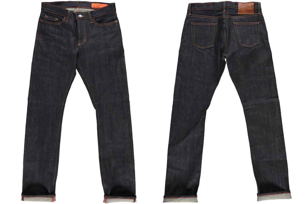 Jean Shop Slim Fit Raw Denim Jeans