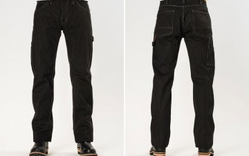 Iron-Heart-IH-814-Wabash-Stripe-Black-Wabash-Painter's-Pants-Front-Back