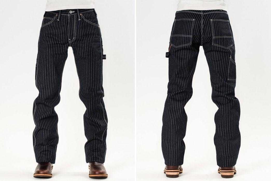 Iron-Heart-IH-814-Wabash-Stripe-Indigo-Wabash-Painter's-Pants-Front-Back