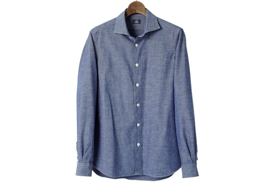 Kamakura-Chambray-Casual-Shirts-Casual Shirt-Tokyo-Fit-Spread-Chambray