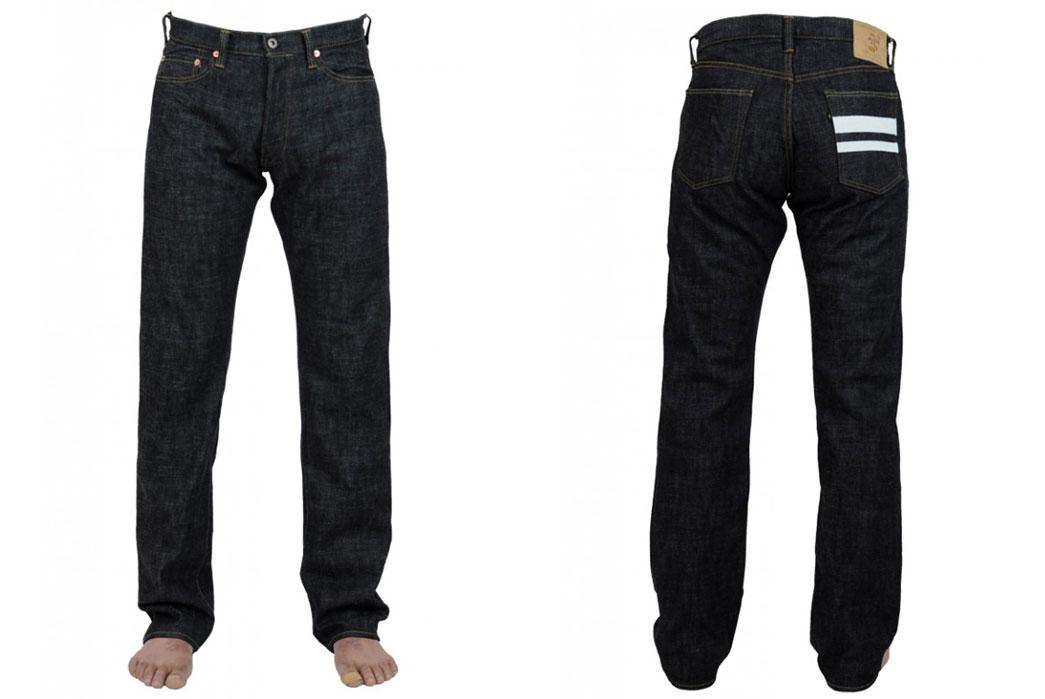 Momotaro-Jeans-10th-Anniversary-15-7oz-Original-Slub-Denim-Front-Back