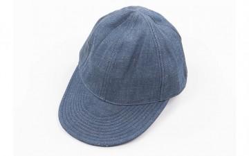 Nige-Cabourn-Lybro-Blue-Selvedge-Denim-USMC-Cap-Front