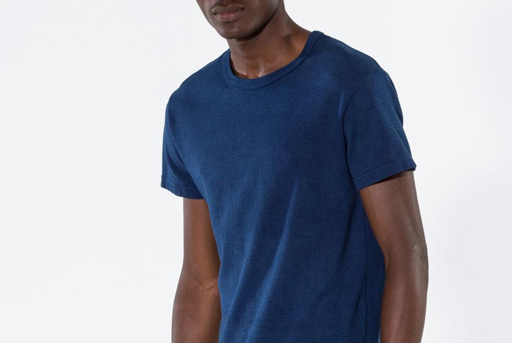 Outlier-Experiment-011-Buaisou-Indigoweight-Merino-Wool-T-Shirt-Model-Close-Up-Overside