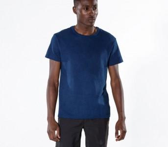 Outlier-Experiment-011-Buaisou-Indigoweight-Merino-Wool-T-Shirt-Model-Front