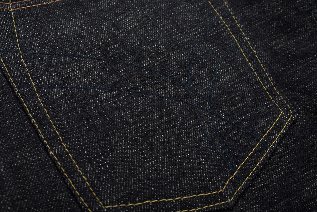 Self-Edge-x-trike-Gold-Wavy-Standard-Short-Slub-Selvedge-Jeans-Back-Pocket