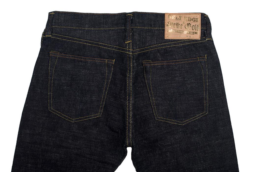 Self-Edge-x-trike-Gold-Wavy-Standard-Short-Slub-Selvedge-Jeans-Back