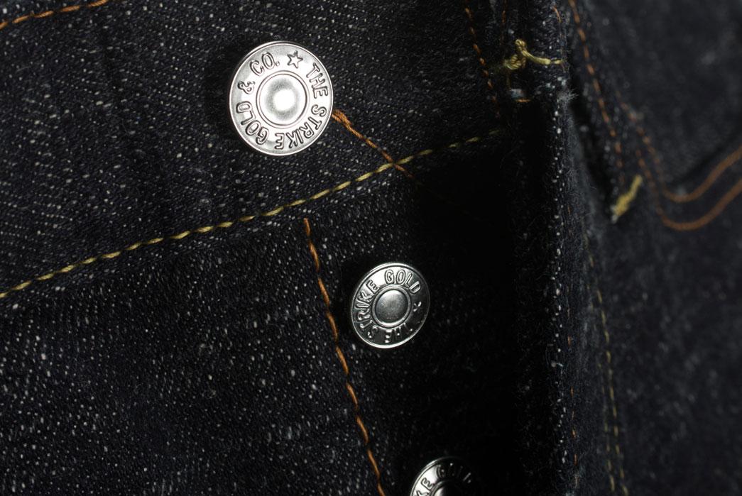 Self-Edge-x-trike-Gold-Wavy-Standard-Short-Slub-Selvedge-Jeans-Buttons