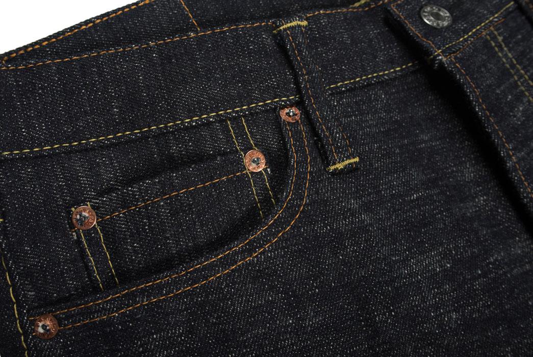 Self-Edge-x-trike-Gold-Wavy-Standard-Short-Slub-Selvedge-Jeans-Front-Pocket
