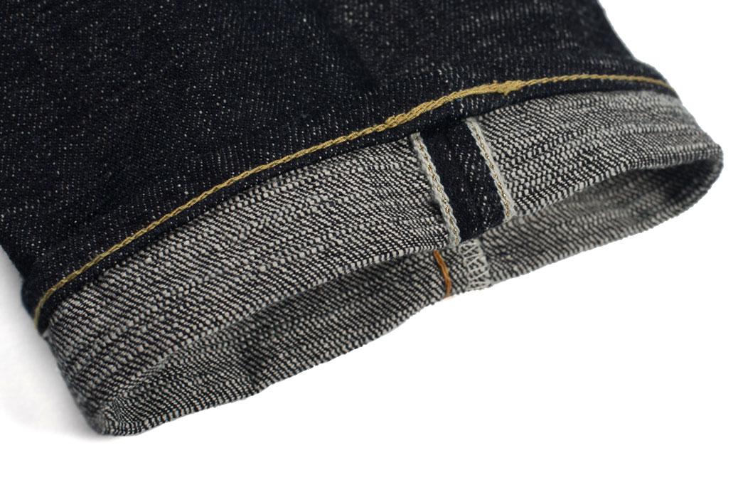 Self-Edge-x-trike-Gold-Wavy-Standard-Short-Slub-Selvedge-Jeans-Selvedge