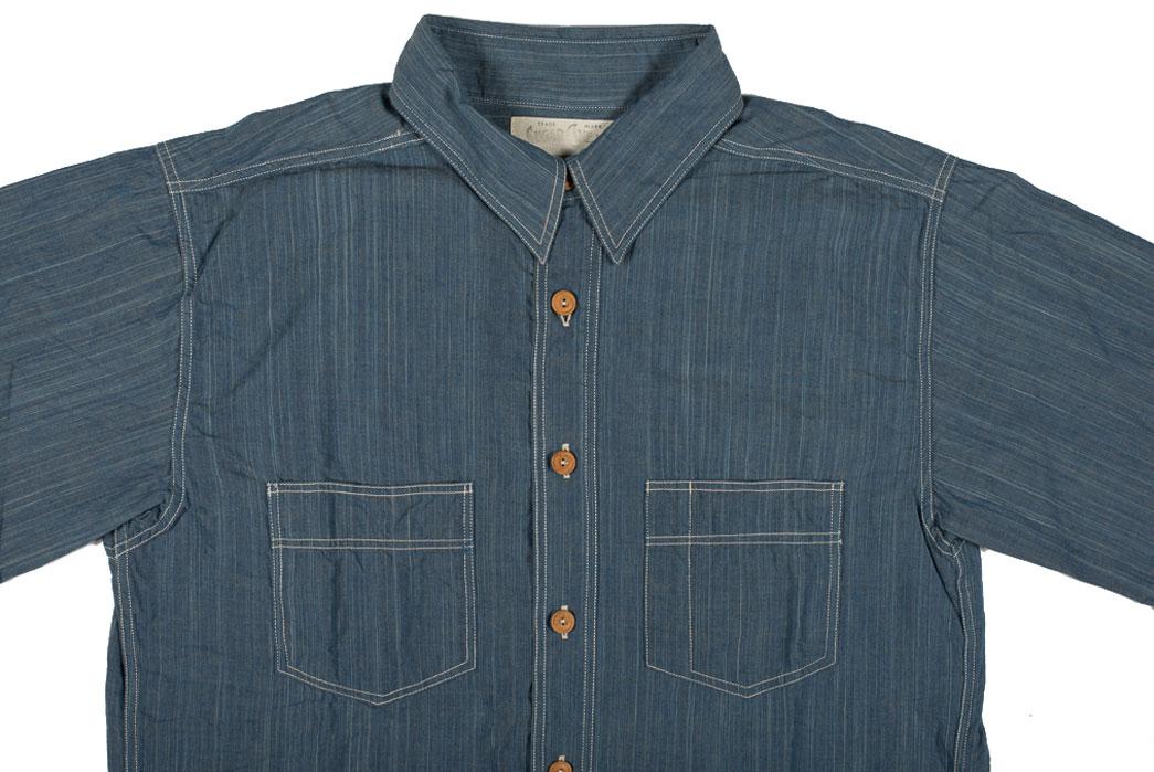 Sugar-Cane-Blue-Moonshine-Hank-Dyed-Natural-Indigo-Workshirt-Front-Close-Up