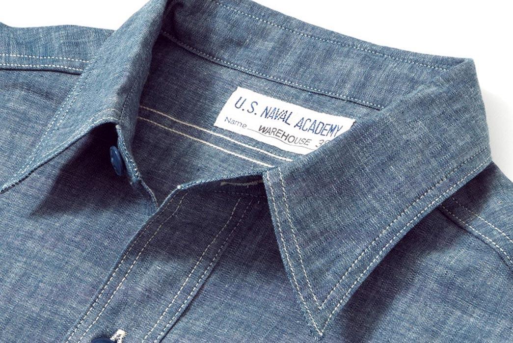 Warehouse-x-U.S-Naval-Academy-Chambray-Work-Shirts-Collar-Overside